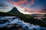 Midnight sun at Kirkjufellsfoss ; comments:15