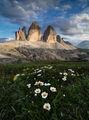 Tre Cime di Lavaredo (Трите Чими) - символът на Доломитите по залез ; comments:37