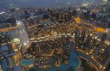 Поглед от Бурж Халифа.....Синият час! ; comments:66