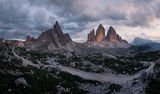 Хижа Locatelli (2438), Monte Paterno (2744) и Tre Cime (2999) ; comments:41