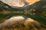 Златен залез над езеро Окото, Пирин. ; comments:20