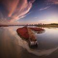Атанасовско езеро по залез ; Comments:40