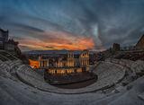 Залез над амфитеатъра в Пловдив ; comments:36
