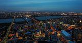 Осака, Япония и река Йодо в синият час! ; Comments:62