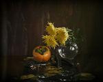 Рожков, райска ябълка и шепнещи им нещо хризантеми... ; comments:16