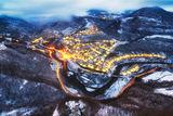 Зимна вечер над село Гара Бов ; Comments:9