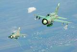 Двойка български МиГ-21бис в небето на България ; comments:10