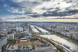 Изглед на Париж и р. Сена, от втория етаж на Айфеловата кула. ; comments:2