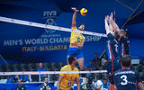 FIVB Volleyball Men's World Championship Italy and Bulgaria 2018 - Netherlands : Brazil ; comments:4