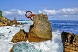 """Скулптура """" Гребена на вятъра """" от Еduardo Chillida, Сансебастиан, Испания ; comments:14"""