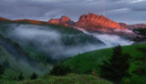 Закат с радугой над Ачешбоками ; comments:24