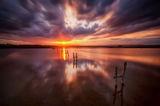 Залез над Атанасовското езеро-Бургас ; comments:6