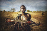 Woman from Mursi tribe ; comments:39