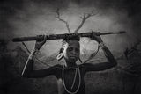 Young Mursi warrior ; Comments:21