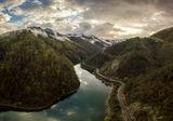 Язовира на Аламовска река и излюпващи се облачета... ; comments:6