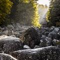 Изгрев над реката от камъни ; comments:4