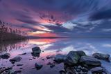 след залез край езерото Вая ; Comments:19