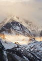 Gergeti Trinity Church and mount Kazbek on sunrise ; comments:20