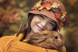 Autumn portrait with rabbit ; comments:75