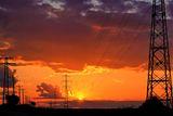 Залез с облаци и електически стълбове . ; comments:8