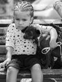Тъжно момиче с куче ; comments:5