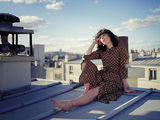 On a parisian rooftop with Nathalie ; No comments