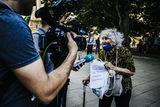 Протестът е свързан с подчинението на българското правителство и съдебната ни система на мафията! ; No comments