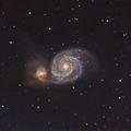 M51 Галактиката Водовъртеж в съзвездието Ловджийски кучета ; comments:10