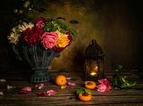 Натюрморт с рози и кайсии ; comments:9