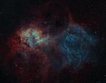 Lion Nebula SH2-132 SHO ; comments:8