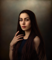 Portrait of a Young Woman with Long Hair ; comments:34