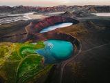 Кратерните сини езера в вулканичната зона на Veiðivötn ; comments:18